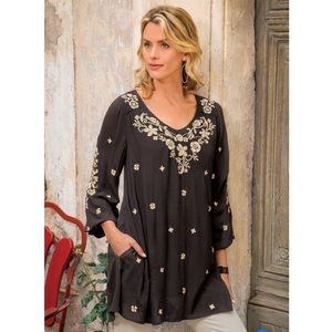 Soft Surroundings Mirabilis Embroidered Tunic